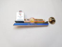 Superbe Pin's En Zamac , JO , Jeux Olympiques De Sydney 2000 , Oil Tanker , Bateau , Shell , N° 3438 - Jeux Olympiques