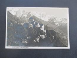 Echtfoto AK 1937 Schloss Vaduz Fürstentum Liechtenstein Frankiert Mit Michel Nr. 160 - Liechtenstein