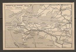 CARTE PLAN 1930 - BRETAGNE - PRESQU'ILE De CROZON - MORGAT CAMARET LE FAOU DAOULAS - Topographical Maps