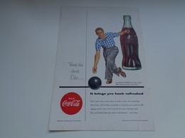 """Origineel Knipsel ( 2463 ) Uit Tijdschrift """" Geographic Magazine """" 1954 :  Papier Légère Cartonné  25 X 17 Cm. - Afiches Publicitarios"""