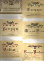 Lot De 12 Etiquettes Bourgogne Collées Sur Carton Ref A - Bourgogne