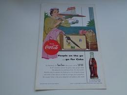 """Origineel Knipsel ( 2464 ) Uit Tijdschrift """" Geographic Magazine """" 1954 :  Papier Légère Cartonné  25 X 17 Cm. - Afiches Publicitarios"""