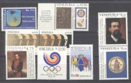 Venezuela  -  1988  :  Yv  1374...1431  **    9 Valeurs - Venezuela