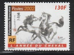 POLYNESIE - N°656 ** (2002) Année Du Cheval - Neufs