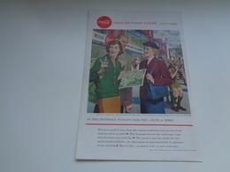 """Origineel Knipsel ( 2466 ) Uit Tijdschrift """" Geographic Magazine """" 1956 :  Expo Brux. Papier Légère Cartonné 25 X 17 Cm. - Afiches Publicitarios"""