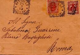 FRANCOBOLLO Su Busta 1898 BETTOLLE SINALUNGA PALAZZO RUSPIGLIOSI SUL RETRO DELLA BUSTA DESCRIZIONE E NOME DELLA PERSONA - 1878-00 Umberto I