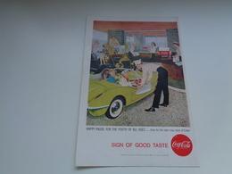 """Origineel Knipsel ( 2467 ) Uit Tijdschrift """" Geographic Magazine """" 1958 :   Papier Légère Cartonné 25 X 17 Cm. - Afiches Publicitarios"""