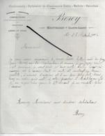 70 - Haute-saône - MONTBOZON - Facture BOREY - Cordonnerie, Confections, Bonneterie, Laines Et Crins - 1906 - REF 289 - France