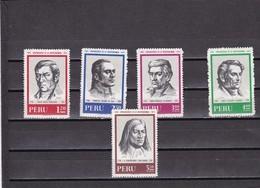 Peru Nº 531 Al 532 Y A288 Al A290 - Peru