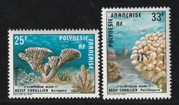 POLYNESIE - PA N°121/22 ** (1977) Coraux - Poste Aérienne