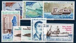 TAAF 1981/1982     N° YT 92-93 + 95-100  ** MNH - Nuevos