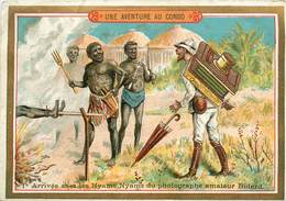 CHROMOS  - LE CHOCOLAT PARISIEN - UNE AVENTURE AU CONGO - Alte Papiere