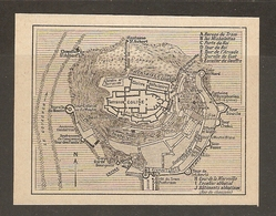 CARTE PLAN 1930 - NORMANDIE - PLAN DESCRIPTIF Du MONT SAINT MICHEL - BUREAU Du TRAM CLOITRE FONTAINE - Topographical Maps