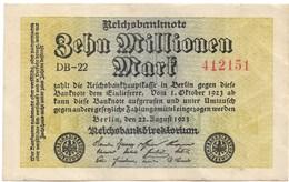10.000.000 MARKS 22 AOUT 1923 - [ 3] 1918-1933: Weimarrepubliek