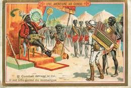 CHROMOS  - LE CHOCOLAT PARISIEN - UNE AVENTURE AU CONGO - Vieux Papiers