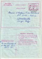 """AEROGRAM : MIL POST BPS : 7 H I """" BPS 37 / 25.2.60""""  Naar LEOPOLDVILLE (Congo Belge) - Entiers Postaux"""