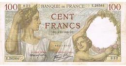 Billet FRANCE    4..12..41  100  FRANCS - 1871-1952 Antiguos Francos Circulantes En El XX Siglo