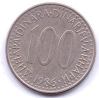 YUGOSLAVIA 1986: 100 Dinara, KM 114 - Yougoslavie
