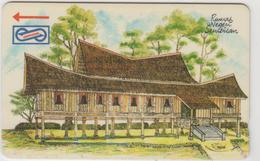 MALAYSIA (Uniphonekad)- Rumah Negri, Houses, , CN:22MSAC, 1992, TIRAGE 500.000, Used - Malaysia