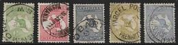 AUSTRALIA 1913 ½d, 1d, 2½d, 3d, 6d SG 1, 2b, 4, 5c, 9 FINE USED Cat £63+ - 1913-48 Kangaroos