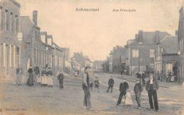 02-SEBONCOURT-PASSANTS RUE PRINCIAPLE-N°2040-B/0179 - Autres Communes