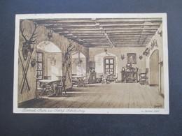 Liechtenstein / Österreich AK 1929 Stempel Schloßwirtschaft Schattenburg Feldkirch Nach Ruggeln Mit Stp. L1 RL - Briefe U. Dokumente