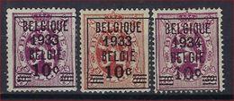 BELGIE 1933 Nr. 375 A - 375 - 376 Postfris ** CW 260,00 ! Verkoop Aan 25 € ! - Typo Precancels 1929-37 (Heraldic Lion)