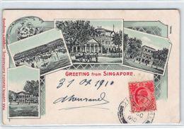 SINGAPORE - Greetings - Litho Postcard - Publ. Max Ludwig - Singapore