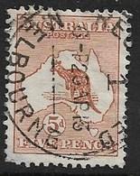 AUSTRALIA 1913 5d  SG 8 FINE USED Cat £48 - 1913-48 Kangaroos