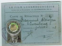 Luxembourg Carte De Rédacteur 1928 - Luxembourg