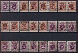 BELGIE 1933 Nrs.  375 (9 X) - 376 (9 X) Merendeel Postfris **  ! Inzet Aan 50 € ( OBP = +++ 800 € )  ! - Typo Precancels 1929-37 (Heraldic Lion)