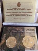 Dittico Monete Argento Celebrative Dei Campionati Mondiali Di Calcio 1986 - San Marino