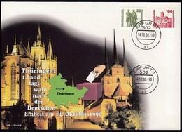 Germany DDR Erfurt 14.10.1990 / Thuringen: 1. Landtagswahl Nach Der Deutschen Einheit, Elections / Castle - [6] Oost-Duitsland