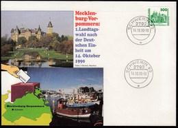 Germany DDR Schwerin 14.10.1990 / Mecklenburg-Vorpommern: 1. Landtagswahl Nach Der Deutschen Einheit, Elections / Castle - [6] Democratic Republic