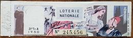 Billet De Loterie Nationale 1950 21e Tranche Série A - Roméo Et Juliette - 860 Francs - Lottery Tickets