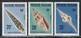 POLYNESIE - N°142/4 ** (1979) Coquillages - Neufs