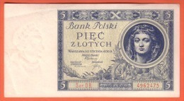 POLOGNE - 5 Zlotych Du  02 01 1930 - Pick 72 - Polonia