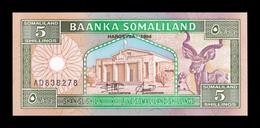Somalilandia Somaliland 5 Shillings 1994 Pick 1 SC UNC - Otros – Africa