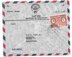 GS008 /  KUWAIT - Scheich Ahmed Und Thronfolger 1967 Auf Brief - Koeweit