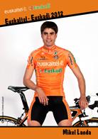 CARTE CYCLISME MIKEL LANDA TEAM EUSKALTEL 2012 - Cyclisme