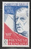 POLYNESIE - N°159 ** (1980) De Gaulle - Neufs