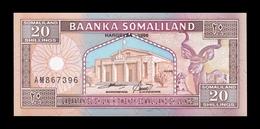 Somalilandia Somaliland 20 Shillings 1996 Pick 3b SC UNC - Otros – Africa