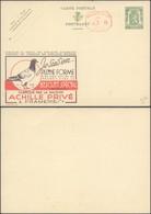 """Publibel N°254 """"Biscuit Spécial, Achille Privé (Frameries)"""" + Empreinte Mécanique P.010 / PUB Au Profit Des Employés Cho - Enteros Postales"""