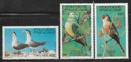POLYNESIE - N°168/170 ** (1981) Oiseaux - Neufs