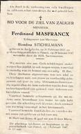 Anderlecht, Pamel, 1947, Ferdinand Masfrancx, Stichelmans - Images Religieuses
