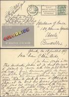 """Publibel N°249 """"Colorbide, Le Mouchoir à La Mode"""" Voyagé De Gent (1937) > Uccle - Enteros Postales"""