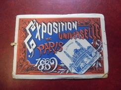 CARNET PARIS 19 Vues En 1889 Lors De L'exposition Universelle @ Panorama  Et Pavillons Etranger - Tour Eiffel - Ausstellungen