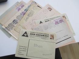 Böhmen Und Mähren 1940 - 42 Kleines Belege Lot Mit 10 Stk. Z. B. Firmenumschläge Und 1x Feldpost (Dienstpost BuM) - Briefe U. Dokumente