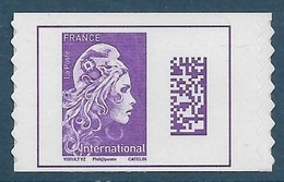 Adhésif 1656 A - Marianne L'Engagée International Timbre De Carnet (2019) Neuf** - Frankreich