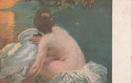 Cartolina - Postcard / Non Viaggiata - Unsent /  Albert  Besnard, Leda. - Malerei & Gemälde